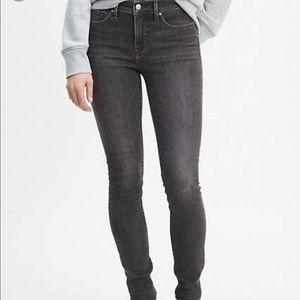 New Levi Demi Curve mid rise boot gray blue jeans
